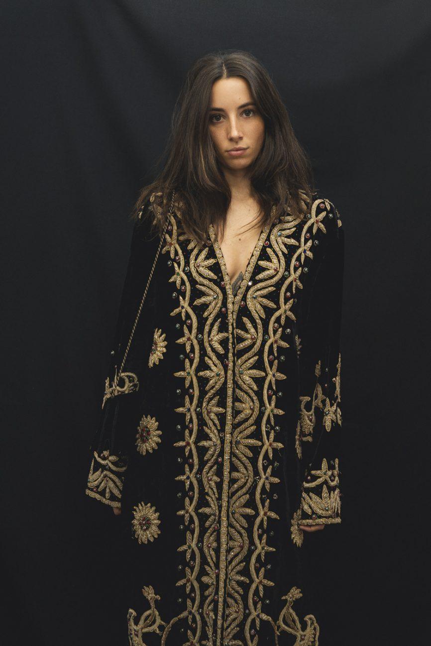 abrigo bordado vintage 1